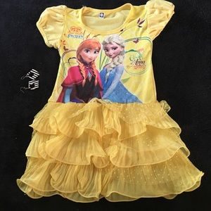 Other - Girl toddler kid frozen birthday party dress 3-5T